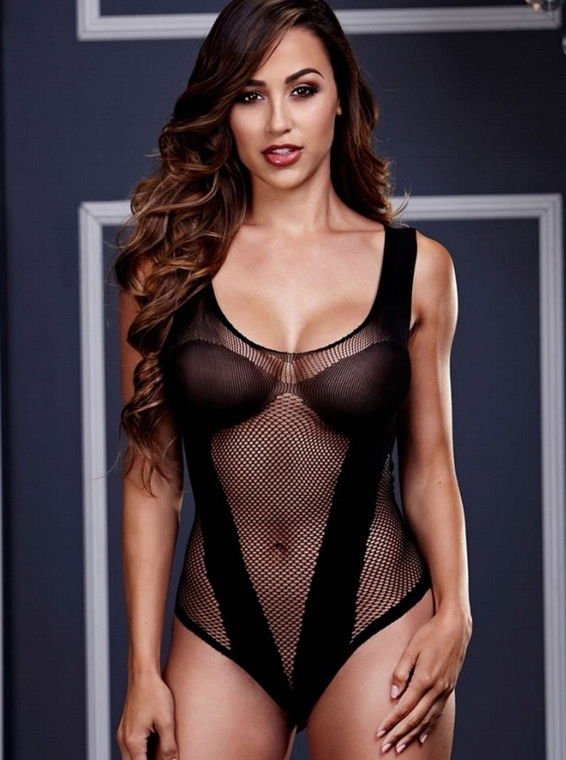 Fishnet Jacquard V-Teddy