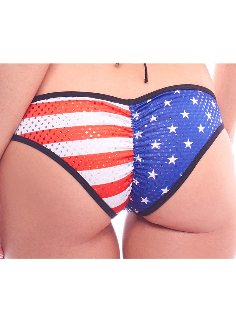 Patriotic USA Flag Rio Bikini Bottom