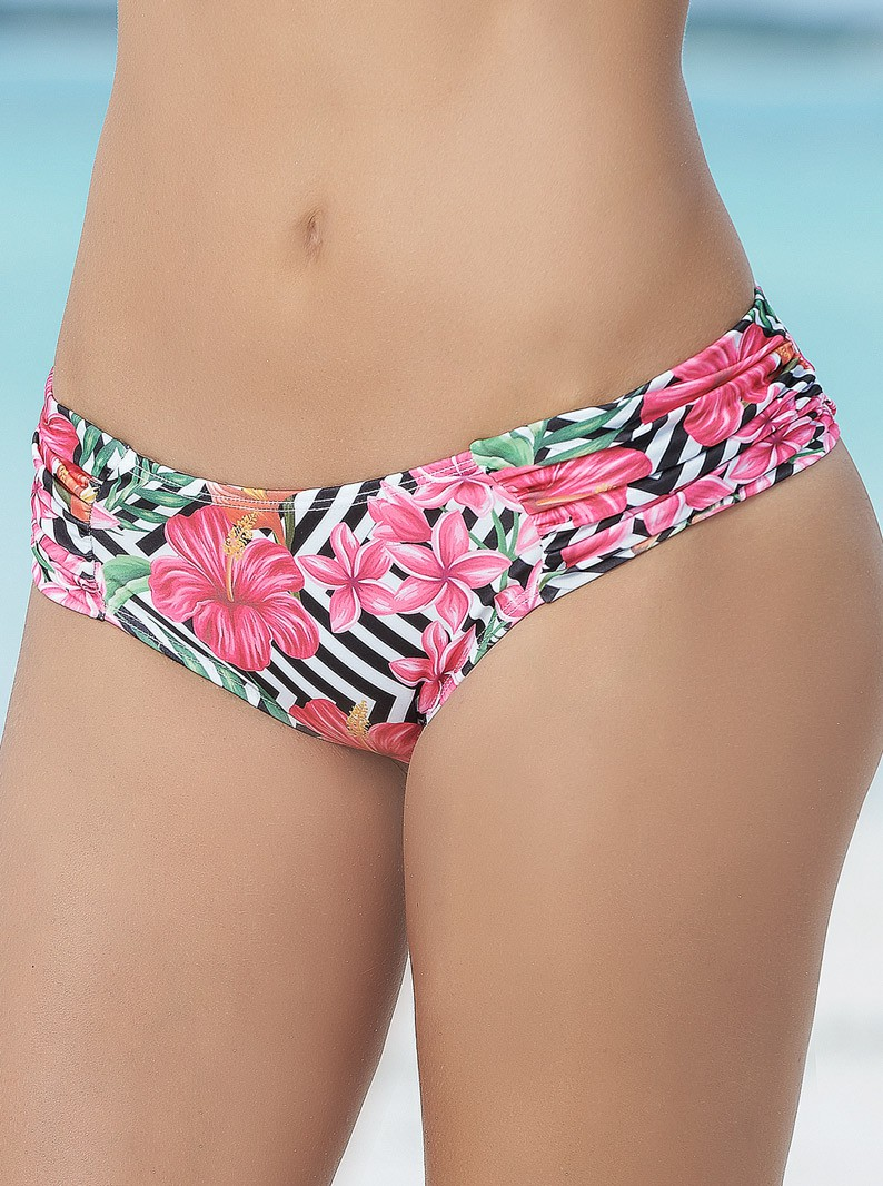Hispter Ruched Thong Bikini Bottom