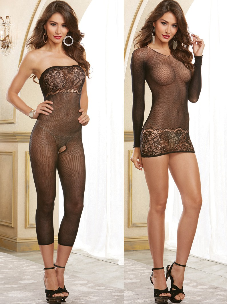 Versatile Seamless Knit Chemise/Bodystocking