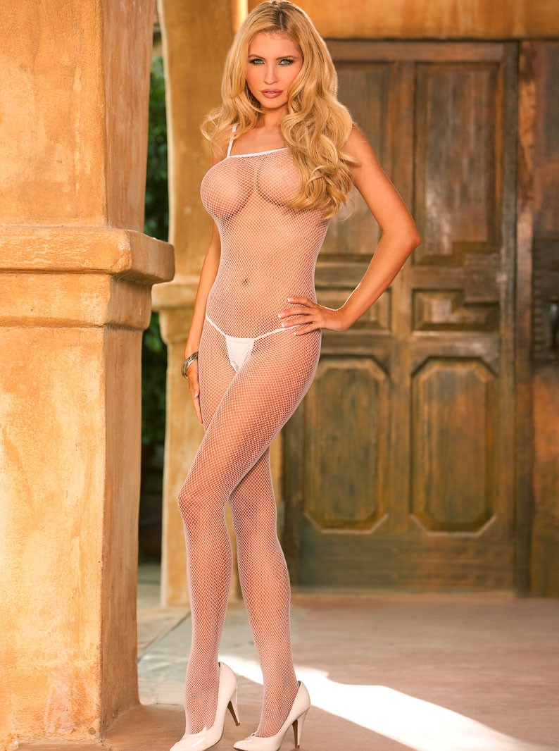 Crotchless Seamless Fishnet Bodystocking