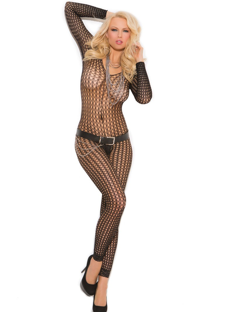 Crochet Footless, Crotchless Bodystocking