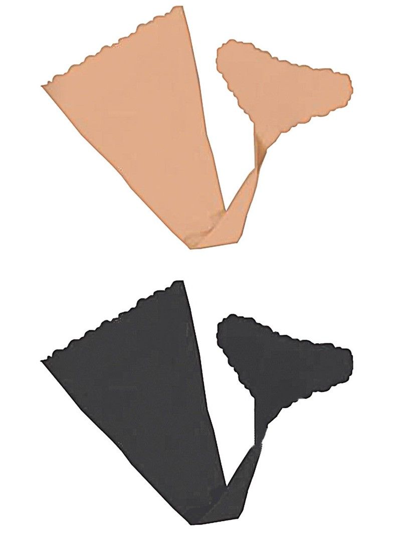 Hush Strapless Adhesive Panties 2 Each Per Pack Nude And Black