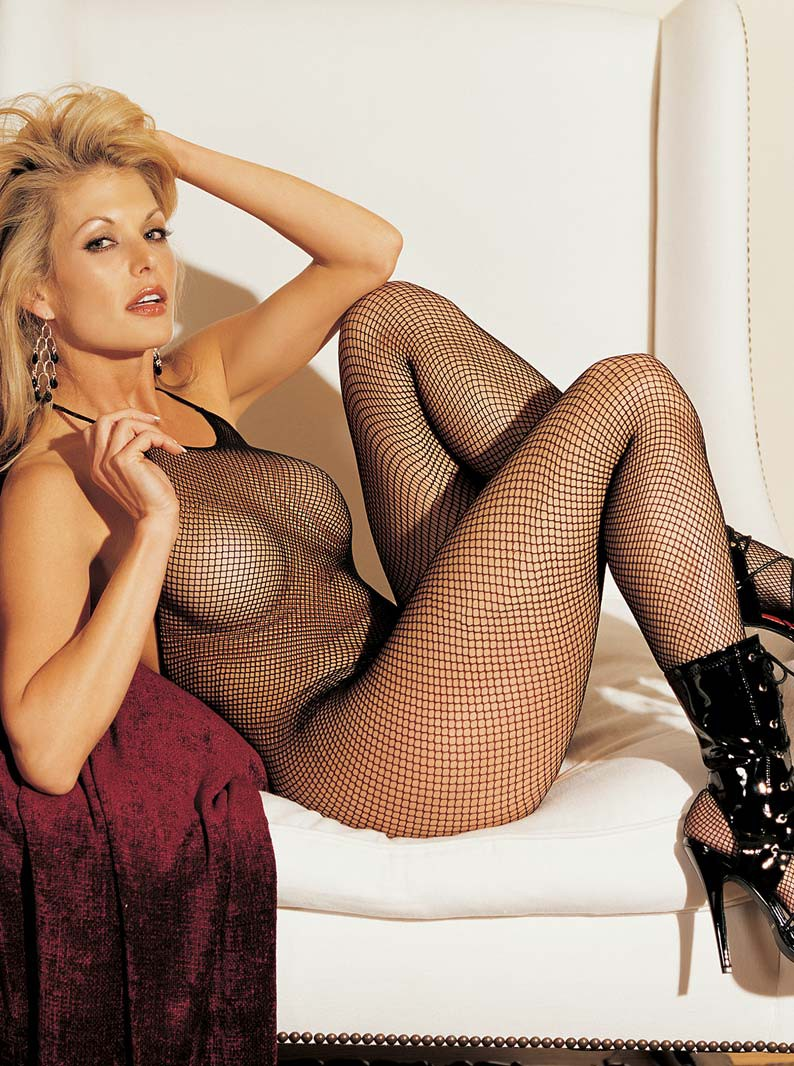 Crotchless Fishnet Bodystocking with Halter Neck