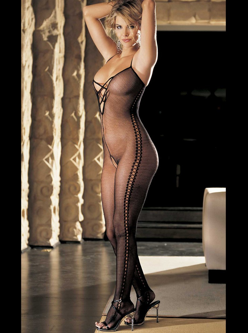 Fishnet Criss Crotchless Bodystocking